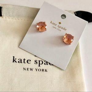 Kate Spade rose gold stud earrings